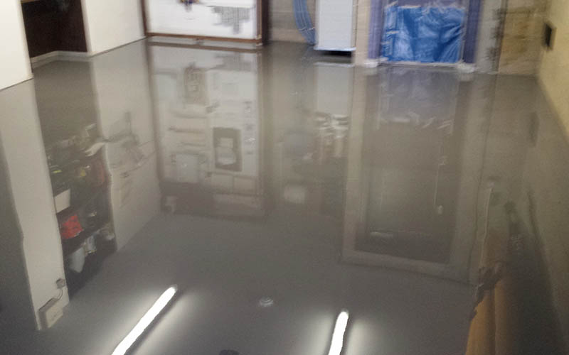 Garage. Poured Epoxy.