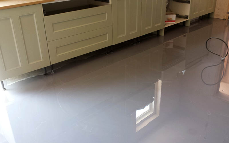 Two tone poured resin.
